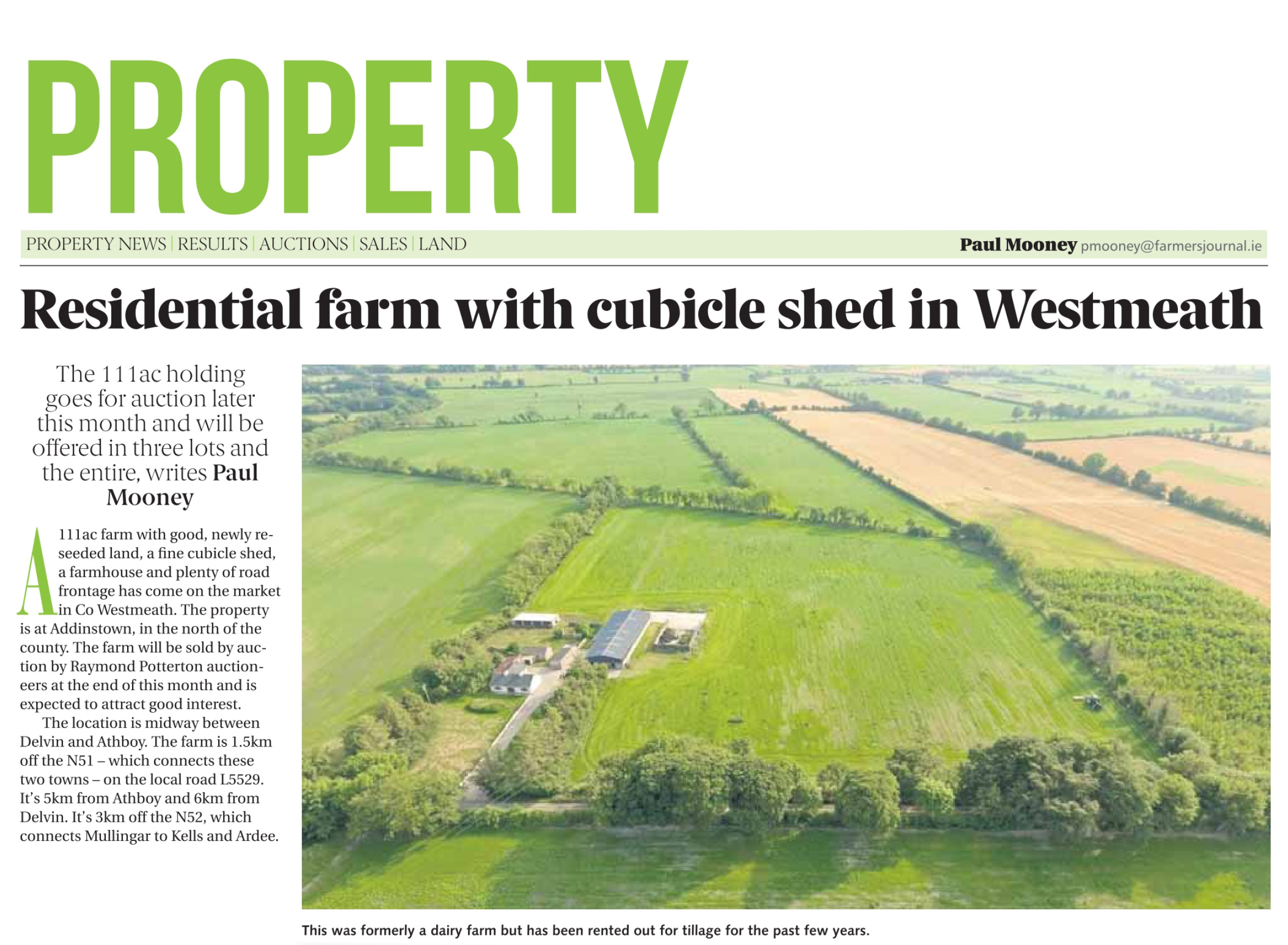 Residential Farm with fine cubicle shed in Westmeath