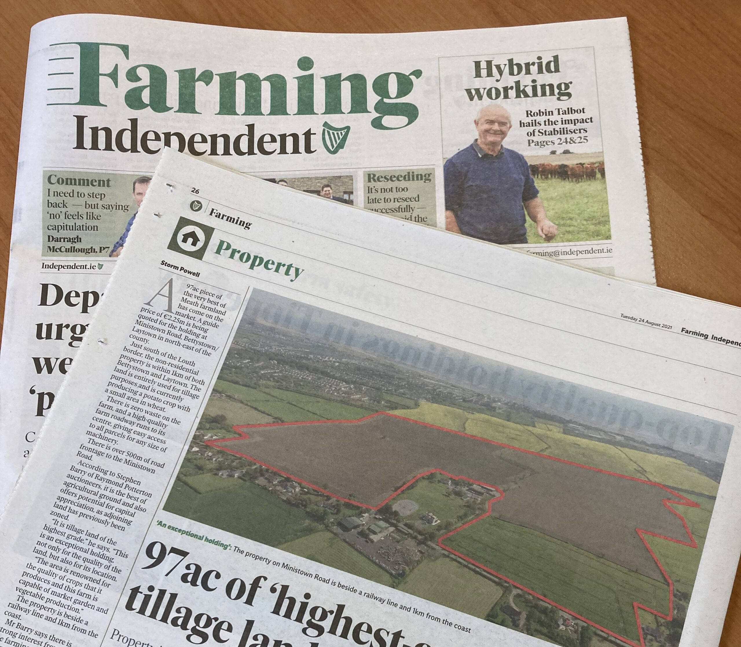 97ac of 'highest-grade' Meath tillage land guided at €2.25m