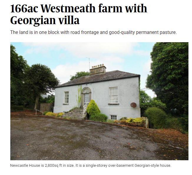 166 Acre Westmeath Farm with Georgian Villa